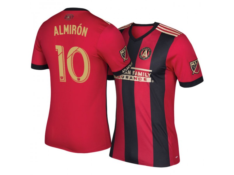 uk availability c9d82 21c28 Atlanta United FC Midfielder #10 Miguel Almiron Home Red ...