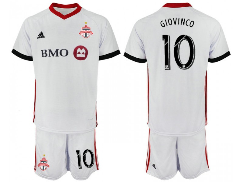 buy popular df267 1ab46 Toronto FC 2018/19 Away #10 GIOVINCO White Authentic Jersey