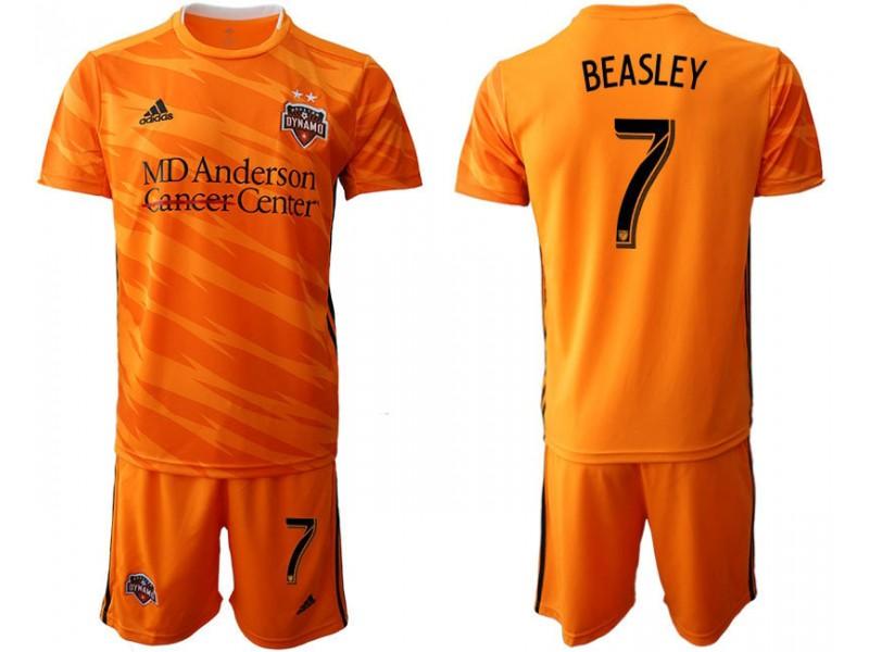 uk availability c58ea c820d Houston Dynamo 2019/20 home #7 BEASLEY Orange Authentic Jersey