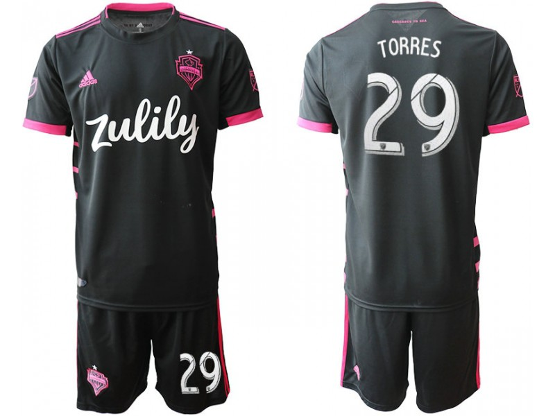 timeless design f18bf 79d6d Seattle Sounders 2019/20 away #29 TORRES Black Replica Jersey