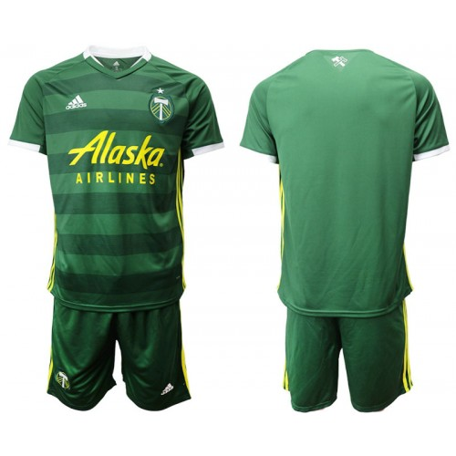 Portland Timbers 2019/20 home Green Authentic Jersey