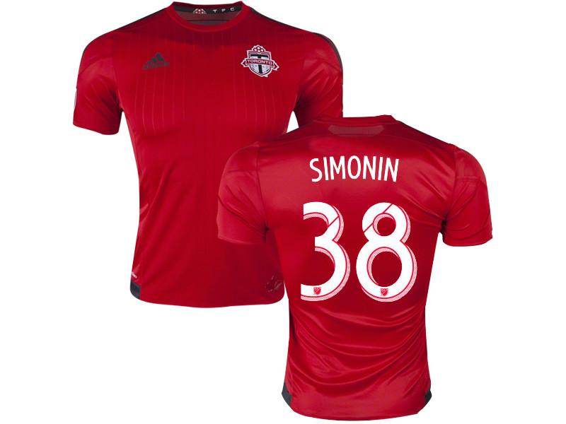 Clement Simonin Toronto Fc Mls Soccer Jersey 38 Red Home 15 16 Mls Shirt