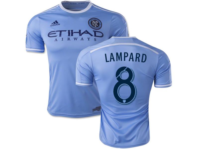 half off 9a249 b6b39 Frank Lampard New York City FC Soccer Jersey #8 Blue Home 15 ...