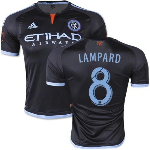 best sneakers 7b757 07d1e Frank Lampard New York City FC Soccer Jersey #8 Black Stripes Away 15/16  MLS Shirt