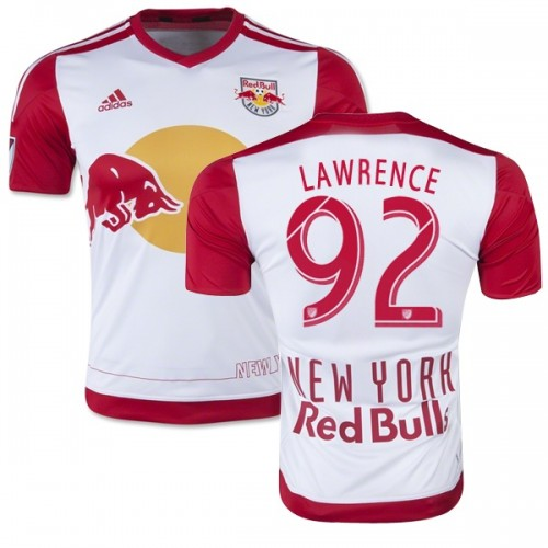 eb64d1dcc Kemar Lawrence New York Red Bulls Soccer Jersey  92 White   Red ...