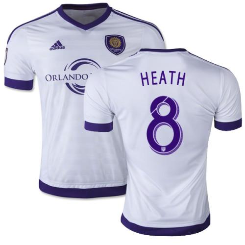 4557579bc80 Harrison Heath Orlando City SC Soccer Jersey  8 White Away 15 16 ...