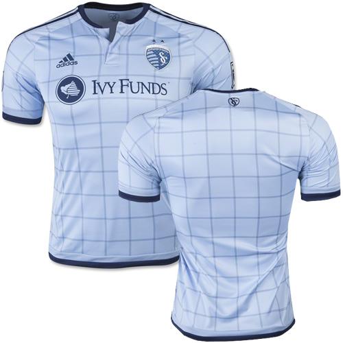 blank sporting kansas city soccer jersey light blue home 15 16 mls shirt