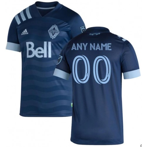 Youth Vancouver Whitecaps FC Navy 2020/21 Away Customized Replica Jersey